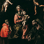 European art; part 1 - Antonio dEnrico called Tanzio da Varallo The Virgin and Child with Saints Charles and Francis 16715 203