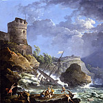 European art; part 1 - Carlo Bonavia A storm off a rocky coast 26679 172