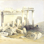 European art; part 1 - David Roberts Portion of the Eastern Portico Baalbec 39530 3606
