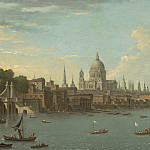 European art; part 1 - Antonio Joli A view of London & the Thames with St Pauls