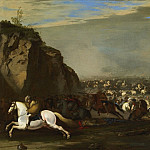 European art; part 1 - Aniello Falcone Cavalry Battle between Turks and Christians 27791 203