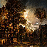 Европейская живопись; часть 1 - Aert van der Neer Two Figures conversing in a Moonlit Park 27091 268