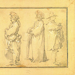 European art; part 1 - ABRAHAM BLOEMAERT Three Villagers ; View of a Village