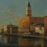 Antoine Bouvard Sr The Grand Canal & Doges Palace , Antoine Bouvard