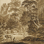 European art; part 1 - Christoph Nathe A View in the Auwald near Leipzig 1784 122565 1124