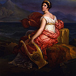 Европейская живопись; часть 1 - BARON FRANГ‡OIS PASCAL SIMON GГ‰RARD Portrait of Mme de StaГ«l as Corinne at the Capa de Mesino with Vesuvius in the Background 32220 172