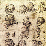 European art; part 1 - Anonymous German School Head Studies after Durer 11329 172