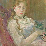 European art; part 1 - Berthe Morisot Jeune fille au chat 99619 20