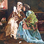 European art; part 1 - Alfred STEVENS The Pleasant letter 41705 617