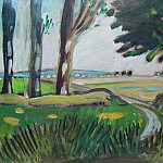 European art; part 1 - Auguste Chabaud - Way in the countryside