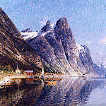 European art; part 1 - Adelsteen Normann A Norwegian Fjord Scene 12178 2426