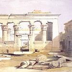 European art; part 1 - David Roberts Portico of the Temple of Kalabashe 31442 3606