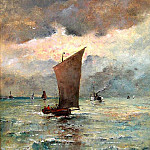 European art; part 1 - Alfred STEVENS Vue de TrГ©port 122112 617