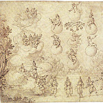 "European art; part 1 - ALFONSO PARIGI Study for a Stage Setting for ""Le Nozze degli Dei"" 11380 172"