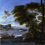 European art; part 1 - Agostino Tassi Landscape with the Baptism of Christ 16960 203