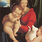 European art; part 1 - Bernardino Lanino Virgin and Child with the Young Saint John 17411 203