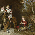 European art; part 1 - Charles Landseer Portrait of the children of Rev Edward Coleridge [1800 1883] of Eton college 99279 20