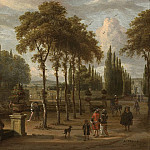 European art; part 1 - Abraham Storck Elegant company in a garden by a mansion 27981 20