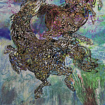 European art; part 1 - Ahmed Moustafa Frolicking Horses 89420 3606