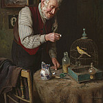 European art; part 1 - Charles Spencelayh A favourite pet