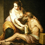 European art; part 1 - BARTOLOME ESTEBAN MURILLO Roman Charity 32991 316