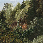Carl Gustav Carus A wooded Rise above the River Elbe in Springtime , Carl Gustav Carus