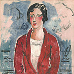 European art; part 1 - Christopher Wood The Red Coat Monte Carlo1926 112579 20