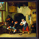European art; part 1 - Cornelis Dusart The interior of an inn with peasants merry making 27880 276