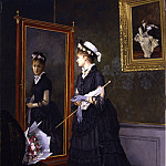 European art; part 1 - CAMILLE LÉOPOLD CABAILLOT LASSALLE Elegant woman looking at herself in a mirror 26644 172
