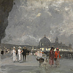 European art; part 1 - AmГ©dГ©e Julien MARCEL CLEMENT Nice a Summers Night on the Promenade des Anglais 90029 121