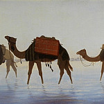 European art; part 1 - Charles Theodore Frere Camels crossing Water