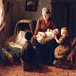 European art; part 1 - Bernard Pothast Amusing the Baby 12184 2426