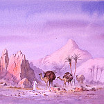 European art; part 1 - David Bellamy - Nomads near Boulmane High Atlas