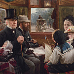 European art; part 1 - Alfred Morgan An Omnibus ride to Piccadilly Circus Mr Gladstone travelling with ordinary passengers 28483 20