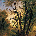 European art; part 1 - Christian Friedrich Gille Woodland Path and Trees 11421 172