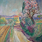 European art; part 1 - Charles CAMOIN La route du Pinet Г  lAmandier fleuri 88319 3449