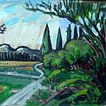 European art; part 1 - Auguste Chabaud The country lane 41486 3306