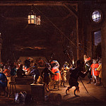 European art; part 1 - David Teniers The Younger Guardroom with Monkeys 32798 172