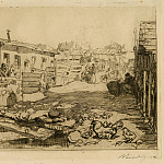European art; part 1 - Auguste Lepère Cité de Chiffonniers – The Town of the Rag and Bone People 1895 123039 1124