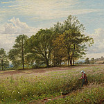 European art; part 1 - Benjamin Williams Leader Summer Time Through the hayfield Worcestershire 40254 20