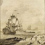 European art; part 1 - Adriaen van Salm Whaling in Rough Waters 27088 268
