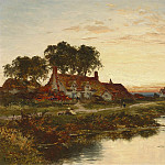 European art; part 1 - Benjamin Williams Leader Worcestershire Cottages 40257 20