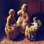 European art; part 1 - Bernard Pothast Blowing Bubbles 12187 2426
