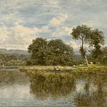 European art; part 1 - Benjamin Williams Leader A fine day on the Thames 40244 20