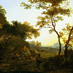 European art; part 1 - Adam Pynacker Italianate landscape 99799 20