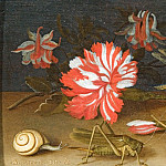 European art; part 1 - Balthasar van der Ast A Still Life with Flowers a Shell a Snail and Insects 15814 268