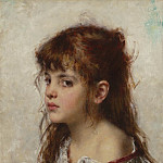 Европейская живопись; часть 1 - Alexei Alexeiwicz Harlamoff Portrait of a young girl 98639 20
