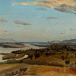European art; part 1 - ALINE BOULIAN A view of the River Rhine near Breisach 11583 172