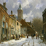 European art; part 1 - Adrianus Eversen A Dutch street scene