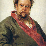 Roerich N.K. (Part 2) - Portrait of Modest Petrovich Moussorgsky (1839-1881)